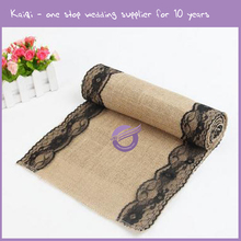 k8813 Lace embroidered burlap table runner knitting pattern for rectangle tables