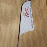 Factory supply double side cheap beach flag easy to install