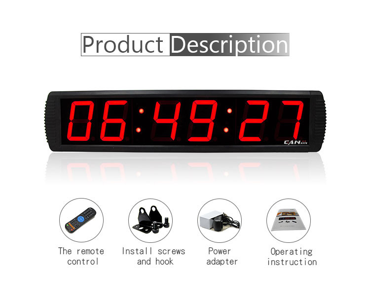 Top selling contemporary digital small glass cover led wall clock