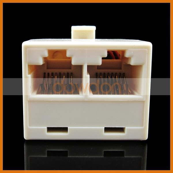 RJ45 Network Cable Spliter Coupler 1 Male-to-2 Female