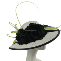 new fashion ladies white church hats wholesale
