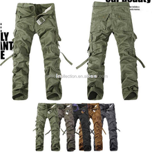 instyles sport army training cotton blending mid-rise men's cargo pants without belt