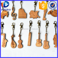 Customized Wooden Musical Instrument Keyring