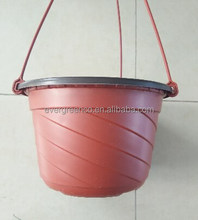 cheap price plastic hanging flower pots,easy to move pots for greenhouse