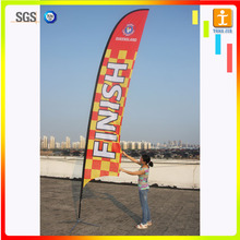 110 gsm 100% polyester printed cost effective marketing feather flag