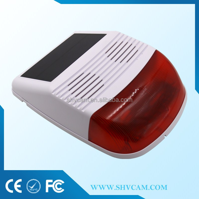 Solar powered auto antitheft alarm system home security from ShenZhen supplier
