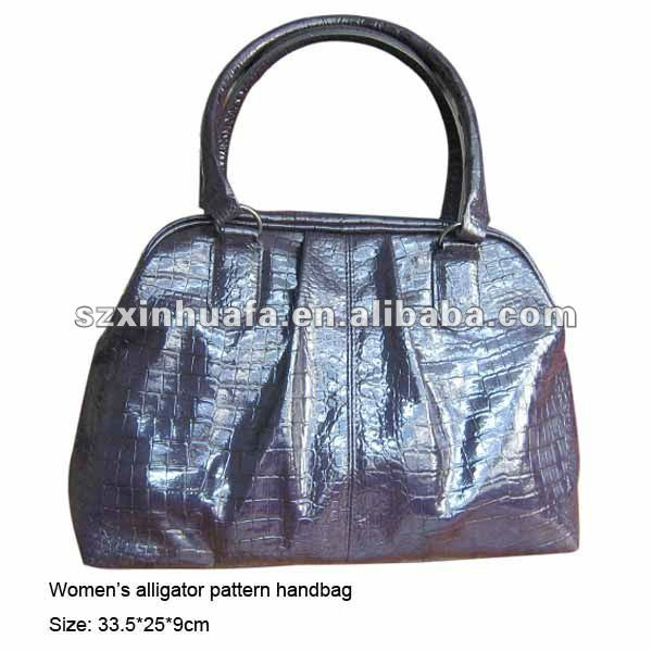 (XHF-LADY-159) fashion shining alligator pattern artificial leather handbag for women lady