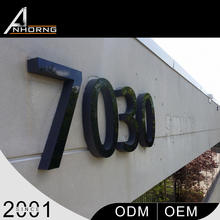 Custom outdoor any font 3D led acrylic alphabet number letter
