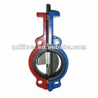 Butterfly valve without pin cast iron wafer connection