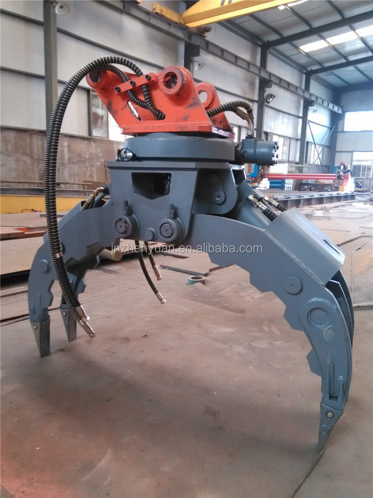 Hydraulic Excavator wood grab / log grapple / wood grapple with rotating for crawler excavator