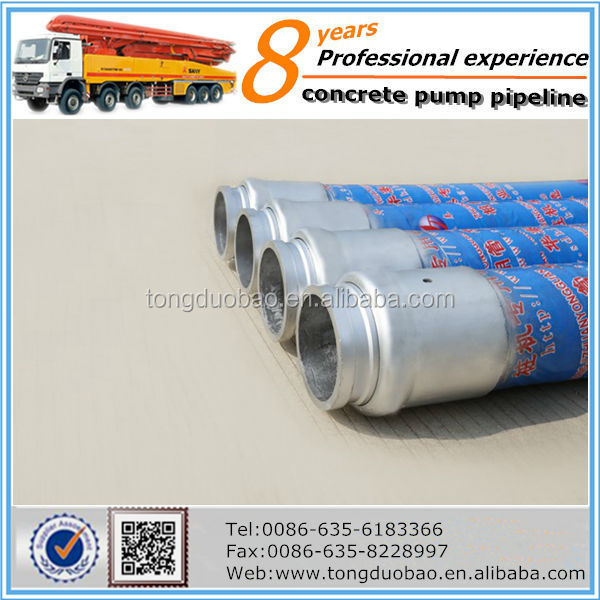 Construction IHI highly durable concrete pump rubber end hose