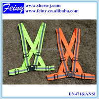 en en471 high visibility motorcycle running green/orange safety belt