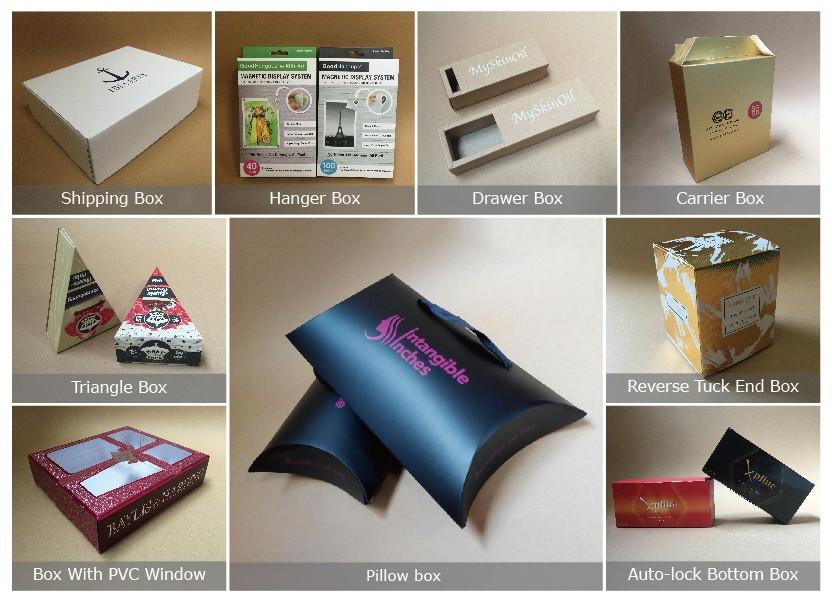 Water Line Designed Custom Hair Extensions Packaging Box Hair