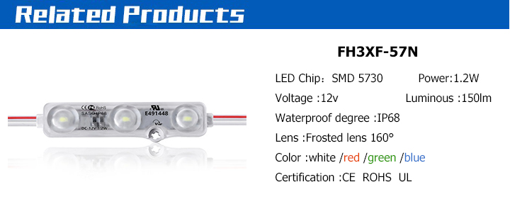 COB Injection LED Module Single Color White Warm White Red / RGB 9 LED 5730 module