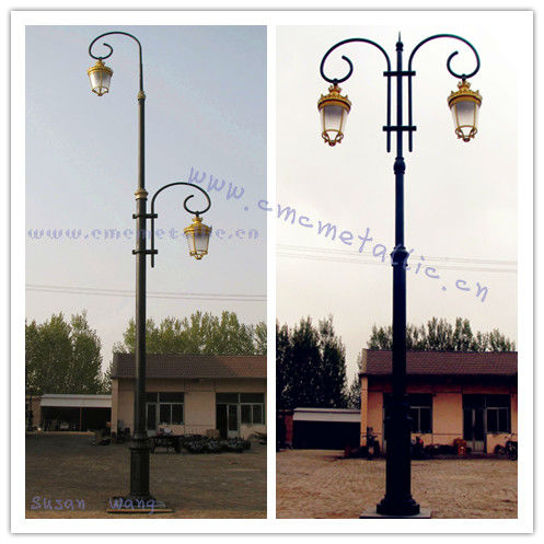 cast iron LED street lighting Road lamp poles
