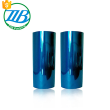 vivid blue stretch clear transparent static film for metal wrapping