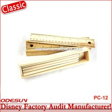 Disney Universal NBCU FAMA BSCI GSV Carrefour Factory Audit Manufacturer Promotional Drawing Colored Pencil Set With Case