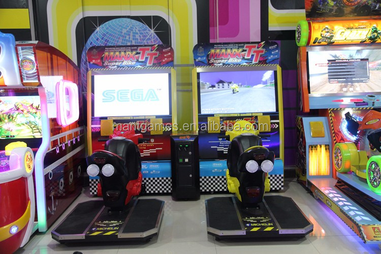 2 player car racing electronic game TT motor racing simulator arcade game machine for game center
