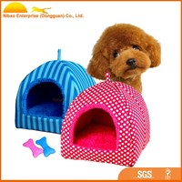 Foldable Luxury Soft Sponge Strawberry Pet Dog Cat Tent House