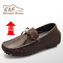 Height increasing elevator loafer shoes/men drive shoes/boat shoes loafers height elevator