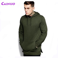 Side Zipper Hoodie Longline Custom Style
