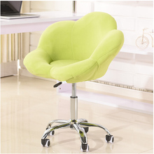 Swivel Fabric Leisure Chair Living Room Art Flower Chair