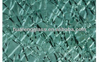 cracked ice laminated glass / professional tempered glass manufacturer