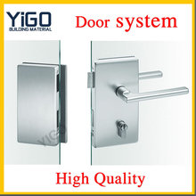 high quality stainless steel glass door locks for hotel sliding door lock system
