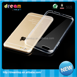 Transparent business soft silicone phone case for iphone 6
