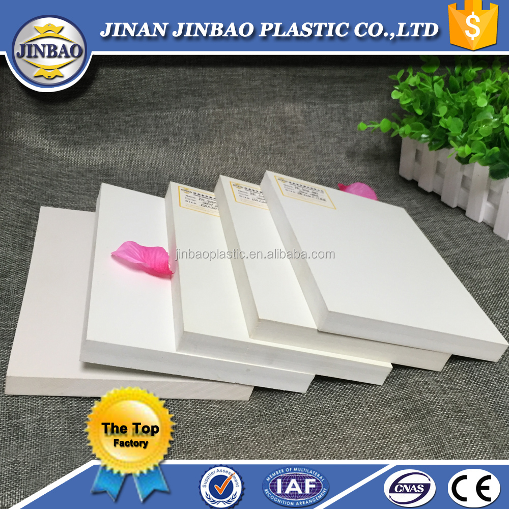 Jinbao glossy white foam board forex uv resistant plastic for sign 5mm