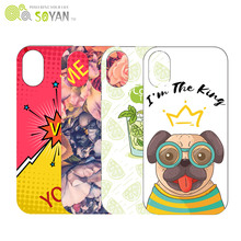 Soyan Fashion PC/TPU UV printing custom cell phone case for iphone 7/7+ packaging