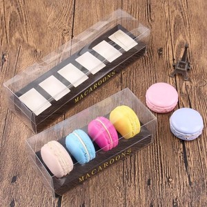 Plastic transparent clear macaron box packaging for 4 and 6