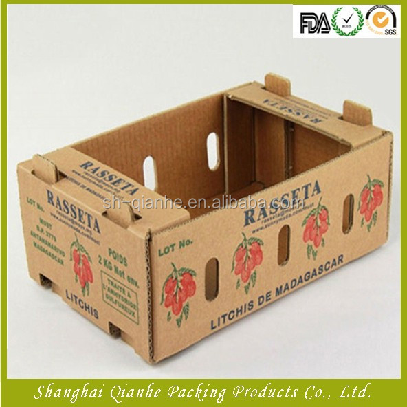Printing avocado carton corrugated box