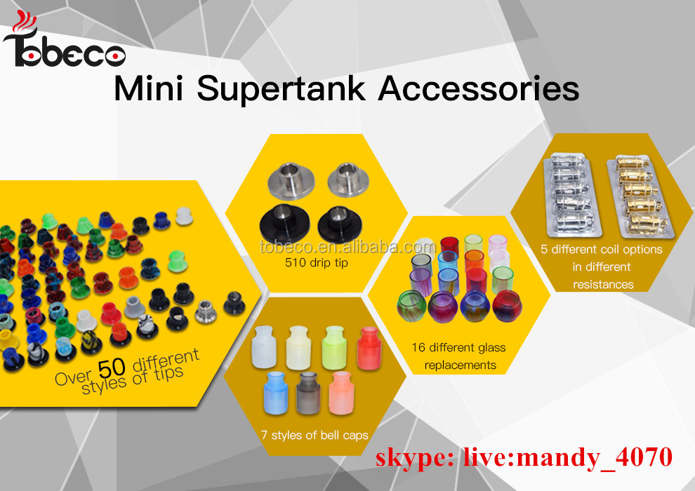 mini super tank replacement drip tip with many style