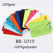 Rubysub RB-1019 High Quality Short Sleeves Sports Casual Solid Sublimation Blank Polo Shirt