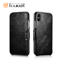 Real Genuine Leather Flip Mobile Phone Case for Apple iPhone 8 , Case for iPhone 8 Leather Cover