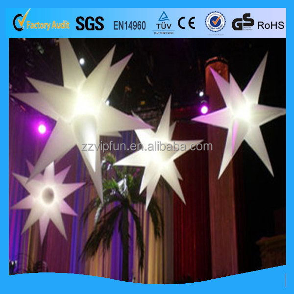 Super quality latest wedding inflatable decoration stars