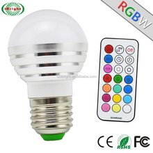 Cool White RGBW Led Lighting Bulb,Dimmable,2 Modes(Run and RGB),Energy Saving Bulb for Entertainment
