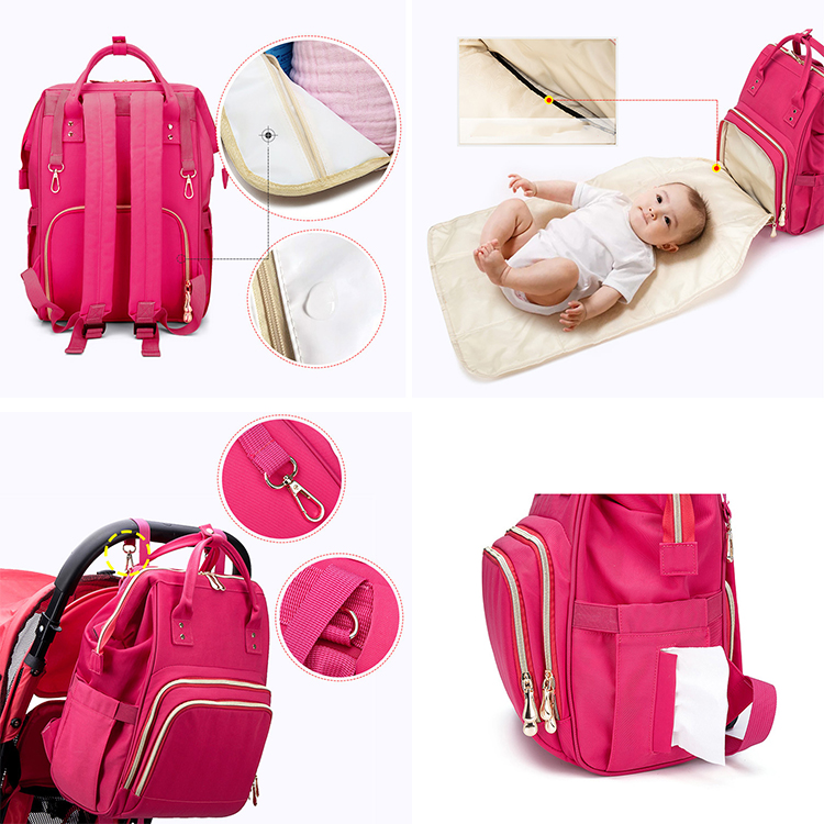 Waterproof Travel USB charging Mom Back Pack Fashion Mommy Mummy Baby Changing Nappy Bag Diaper Bag Backpack