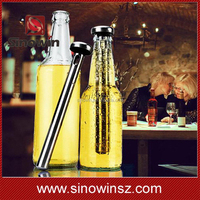 2pcs Stainless Steel Beer Chiller Stick Beverage Cooler Ice Cooling Rod