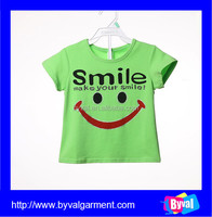 Lovely Printed Children T-shirt, Girls T-shirts, Children Garment