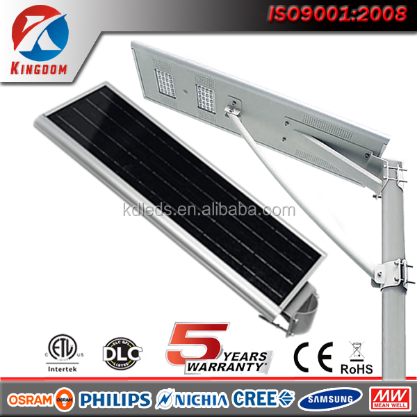 modular antique photocell solar powered integrated led street lamp