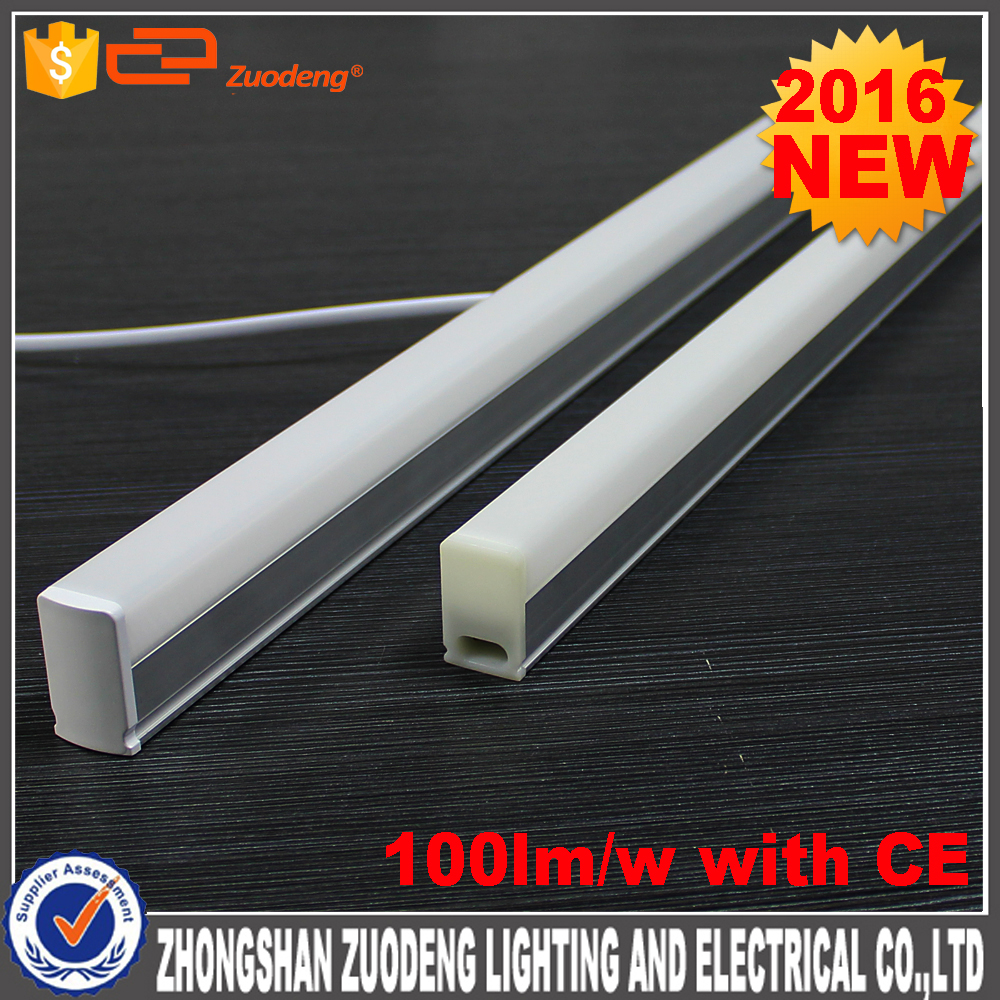 2016 New design CRI 80 100lm/w CE approval 5w 10w 15w 20w T5 led tube light with cheap price