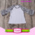 Wholesale Kid Raglan Girls Boutique Clothing Fall 2017 Houndstooth Mommy And Me Cotton Toddler Icing Ruffle Raglan T-shirts