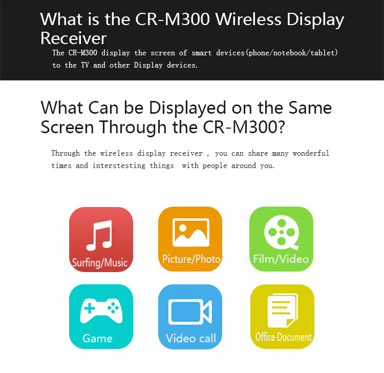 NEW arrival RK3066 Mirrored tv 512 MB Google Chrome cas Miracast Wifi display TV dongle EZcast