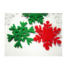 Custom OEM felt die cut Christmas snowflakes hanging decorations