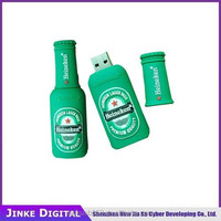 Promotional beer bottle USB Flash Drive with key chain