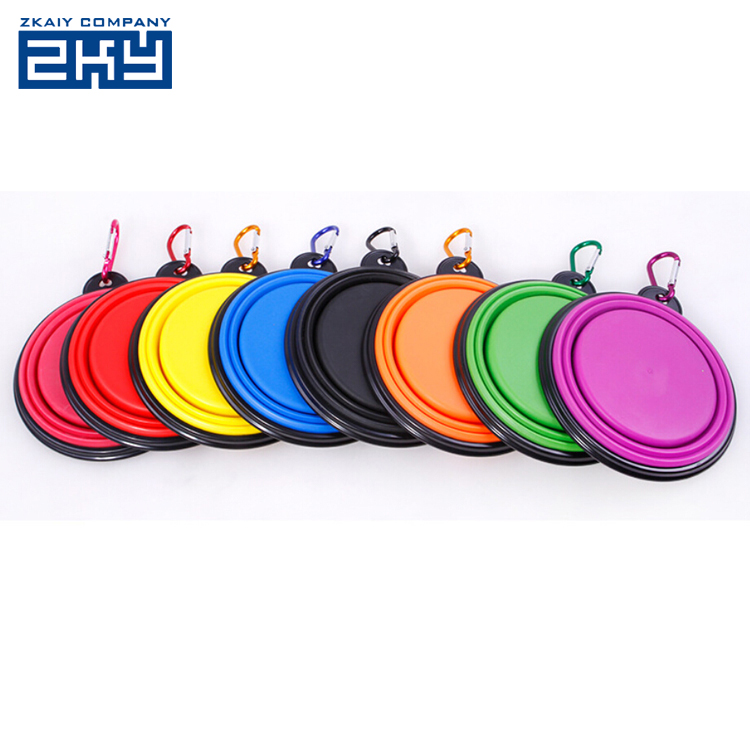 Pet Products Silicone Bowl Pet Folding Portable Dog Bowls Wholesale for Food Drinking