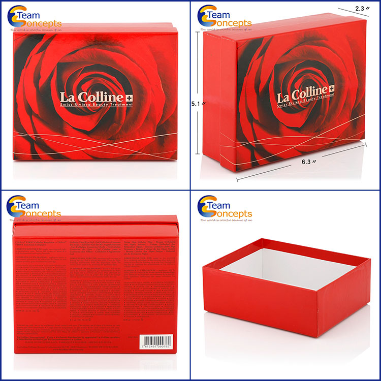 Luxury Wholesale Paper Flower Gift Box With Lid