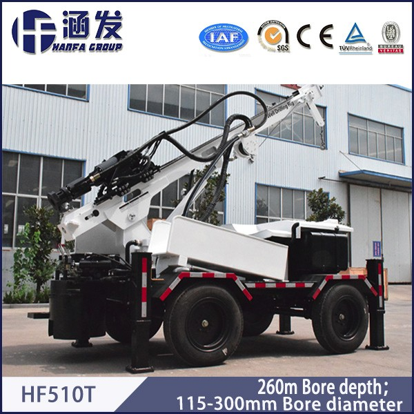 HF510T bore well drilling machine with best price,widely used agricultural water conservancy projects